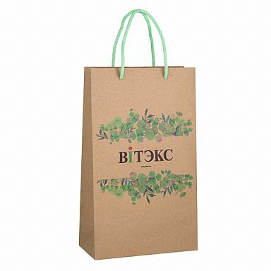 Пакет бумажный Витэкс Растительный узор крафт
