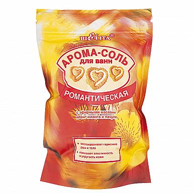 Арома-Соль для ванн Романтическая с эфирными маслами иланг-иланга и пачули