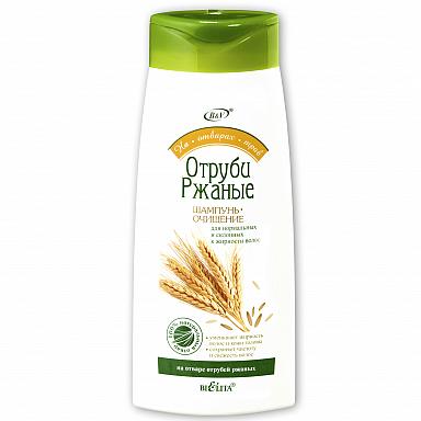 Шампунь-очищение Отруби ржаные для нормальных и склонных к жирности волос