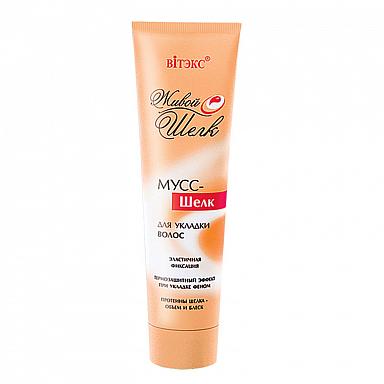 Мус- шелк для укладки волос эластичной фиксации